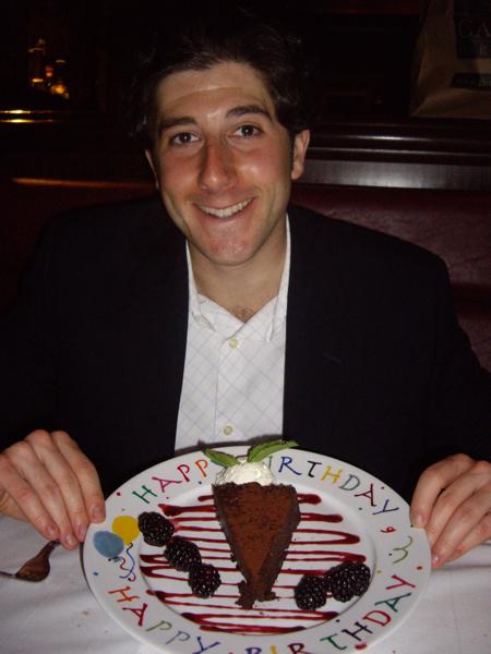Lee eats cake (Happy BDay to me!).