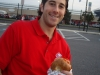 Lee eats lox & bagels (YK-tailgate-style @ 2008 NLCS Game 1).