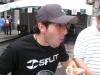 ... Lee eats bratwurst.