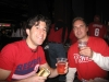 Brick & Lee eat chicken sandwiches & drink Flying Fish brews. (2009 NLCS Game 5 clincher)