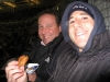 Bert & Lee eat corn-fried kielbasa sausage! (2009 WS Game 1)