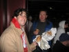 Seth & Lee eat Schmidters. (2009 WS Game 4)
