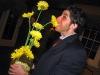 Lee eats gerber daisies.