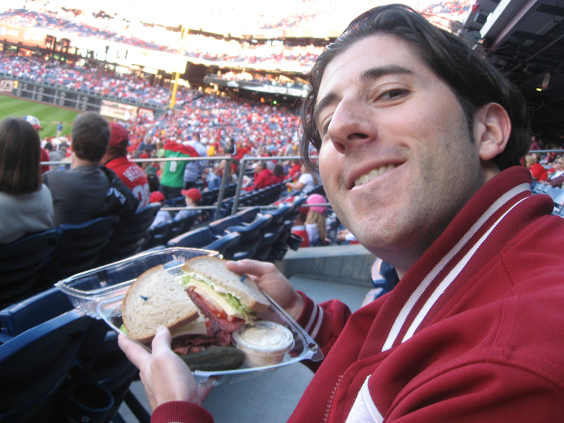 Lee eats R(OY)oast (Halladay) beef sandwiches (2010 NLDS Game 2)