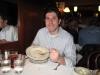 Lee eats clam chowder (Taddich Grill, San Francisco)