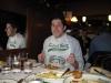 Lee eats cioppino (Taddich Grill, San Francisco)