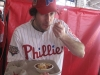 Lee eats Ben's Chili (2010 Opening Day @ Nationals Stadium)