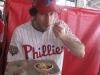 Lee eats Ben's Chili (2010 Opening Day @ Nationals Stadium)