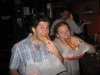 Ro & Lee eat German kielbasa.