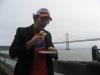 Lee still eats/is a (fried oyster) po\' boy (Hayes Street Grill, Ferry Building, San Francisco)