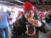 Lee eats a South Philly hot dog (Opening Day 2011)