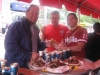 ... Bert, Ryan & Lee eat more BBQ/ribs ...