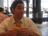 Lee gets ready to eat a Turducken sandwich (Jake's, Philly) ...