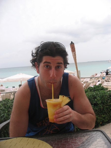 Lee sips some more (Cayman Islands)