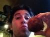 Lee eats balls (turkey balls)