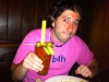 Lee eats/drinks a Johnny Brenda\'s Bloody Mary (with gin)