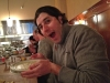Lee eats clam chowder @ Taddich Grill (San Francisco)