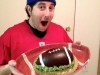 Lee eats Super Bowl XLVII Cake!