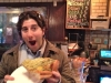 Lee eats artichoke pizza @ Basille's (NYC)