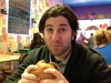 Lee eats a burger @ Sketch (Philly)