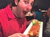 Lee eats the largest shrimp ever (yes, that's ONE SHRIMP in Clearwater Beach)