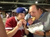Lee & Bert eat Pat LaFrieda's filet mignon sandwiches @ ASG Home Run Derby (Citi Field, Queens)