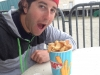 Lee eats Curly\'s Fries (Wildwood)