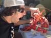 Lee eats lobster (Massachusetts)