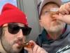 Lee & Mike eat/drink FB at OSU.