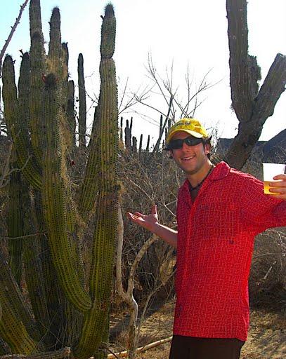 Lee shrugs at cacti.