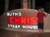 Lee shrugs at Ruth Chris' Steak House in Cabo, Mexico.