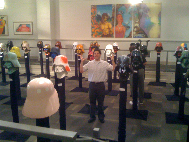 Lee shrugs at a LOT of Darth Vaders (The Vader Project)
