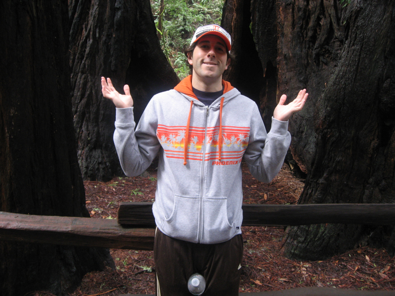 Lee shrugs at Muir Woods some more.