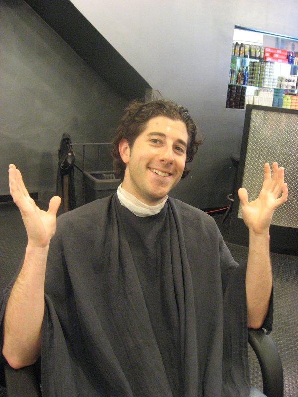 Lee shrugs pre-haircut.