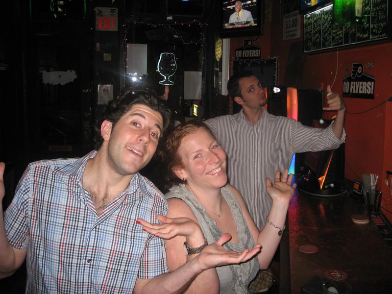 Lee, Ro, and Mad Dog shrug at Beer Week.