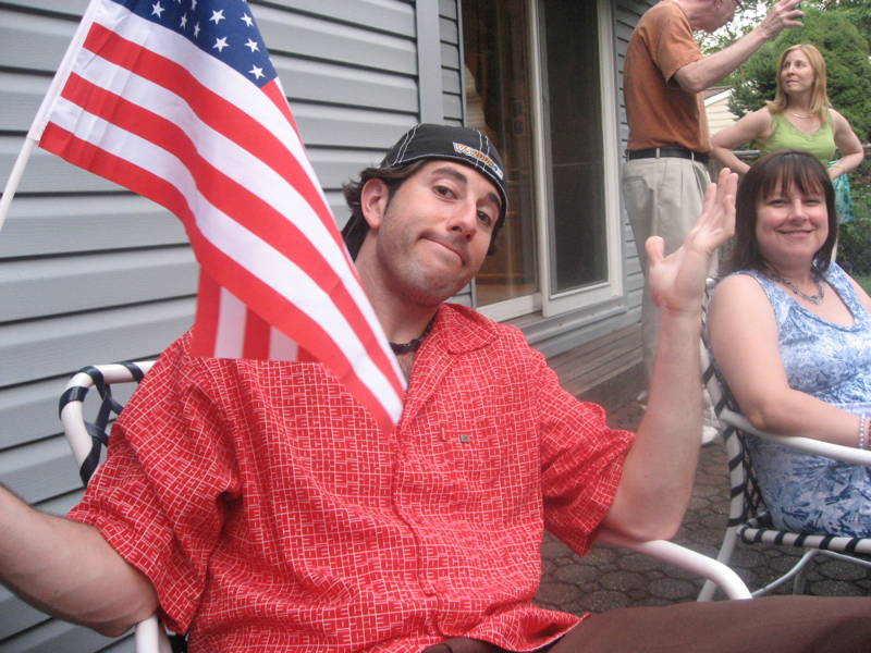 Lee shrugs at the 4th of July.