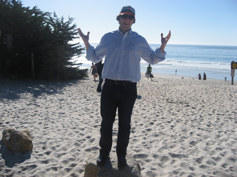Lee shrugs at Carmel, CA