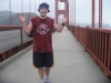 Lee shrugs at running the Golden Gate Bridge