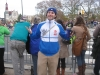 Lee shrugs at the Philly Marathon