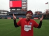 Lee shrugs on the field at Citizens Bank Park