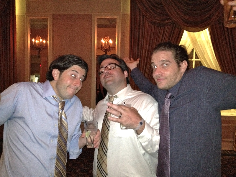 Lee, Ethan & Adam shrug @ Ryan\'s wedding (Philly)