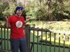 Lee shrugs at an alligator (Jacksonville Zoo)