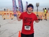 Lee shrugs post-5k (Jacksonville Beach)