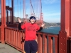 Lee shrugs on the Golden Gate Bridge (San Francisco)