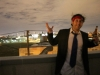 Lee shrugs atop Fishtown roof post-FBR prom (Philly)