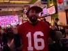 Lee shrugs for San Francisco in Super Bowl 54 (Pre-Covid).
